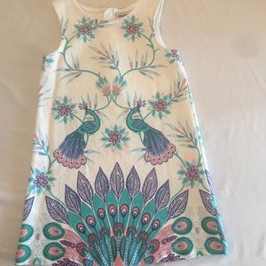 Peacock spring floral dress!
